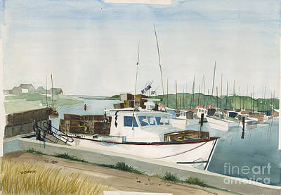 Chatham Harbor Painting - Pegarina by Dennis Drews