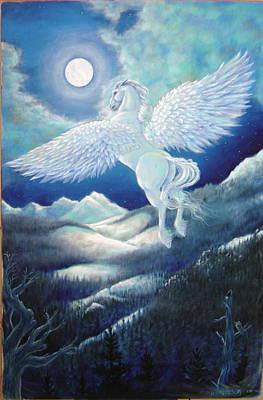 Pegasus Painting - Pegasus by Heather Calderon