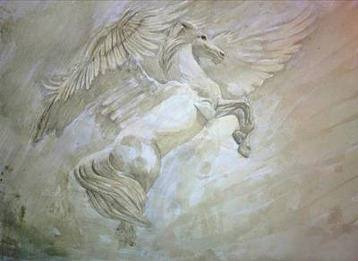 Pegasus Drawing - Pegasus by Helena Brnadic
