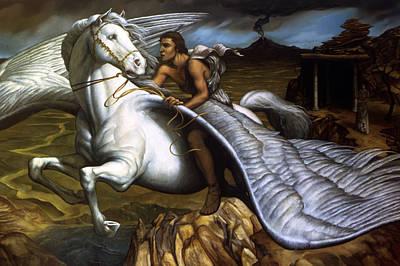 Pegasus Painting - Pegasus by Jane Whiting Chrzanoska
