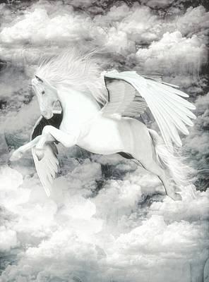 Pegasus Mixed Media - Pegasus Light  by Quim Abella