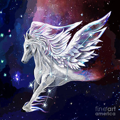 Constellations Painting - Pegasus Rising Constellation by Jackie Case
