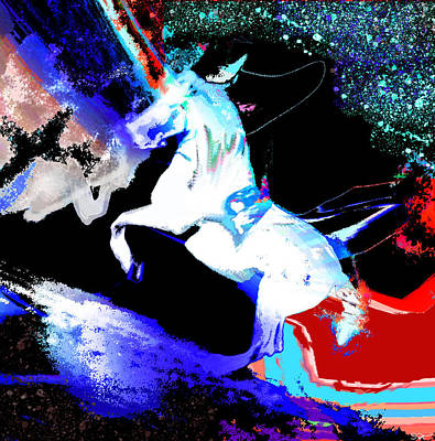 Pegasus Mixed Media - Pegasus Stripped Of His Wings by Abstract Angel Artist Stephen K