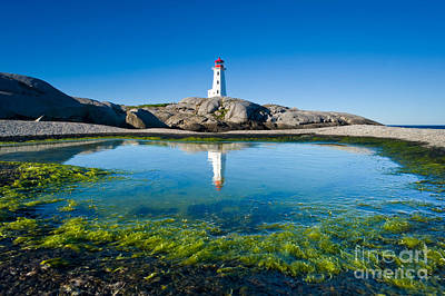 Peggys Cove Lighthouse Original by David Nunuk