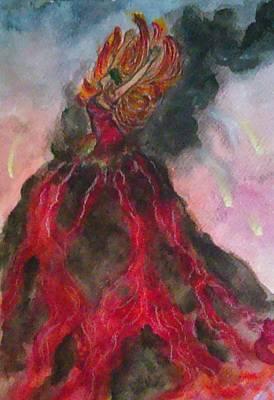 Pele Painting - Pele by Jennie Hallbrown