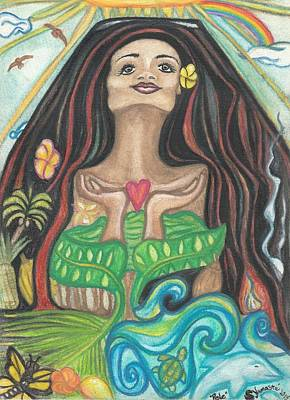 Pele Drawing - Pele by Shawna Namaste