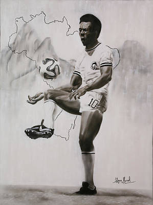 Painting - Pele Tribute by Shawn Morrel