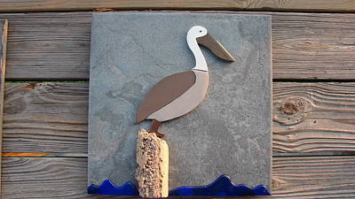 Ceramic Mixed Media - Pelican Day by R Gentry