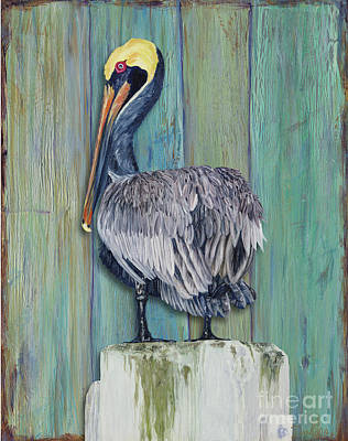 Pelican Perch 2 Print by Danielle Perry