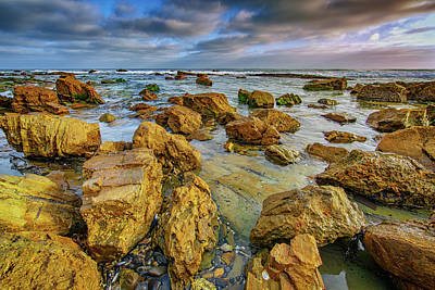 Crystal Photograph - Pelican Point At Sunset by Rick Berk