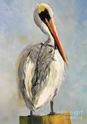 Painting - Pelican Portrait by Keith Wilkie