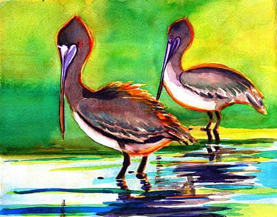 Painting - Pelican Pair by Julianne Felton