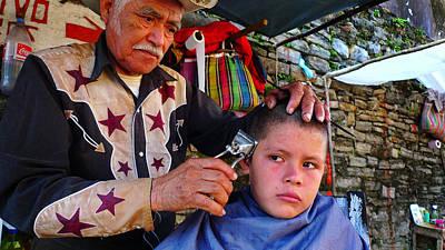 Man Photograph - Peluquero Dos by Skip Hunt