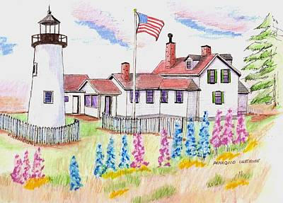 Pemaquid Lighthouse Print by Paul Meinerth
