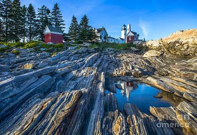 Pemaquid Point Lighthouse Maine Print by Diane Diederich