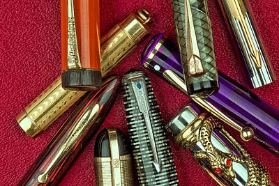 Pen Photograph - Pen Caps Still Life by Tom Mc Nemar