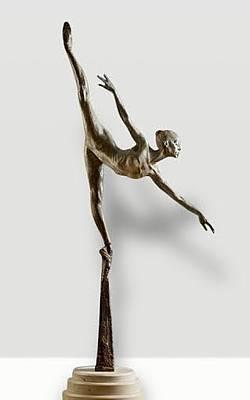 Richard Macdonald Sculpture - Penche Monet by Richard MacDonald