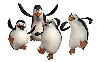 Penguin Drawing - Penguins Of Madagascar 2 by Movie Poster Prints
