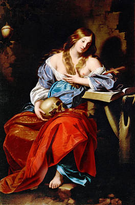 Mary Magdalene Painting - Penitent Mary Magdalene by Nicolas Regnier