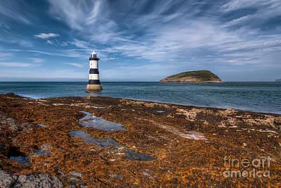 Point Digital Art - Penmon Lighthouse by Adrian Evans