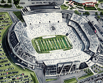 Penn State Beaver Stadium Whiteout Game University Psu Nittany Lions Joe Paterno Print by Laura Row