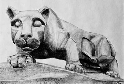 Penn State Nittany Lion Statue Print by Bryant Luchs