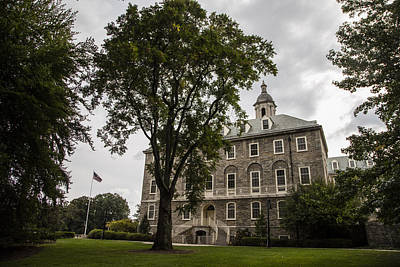 Penn State University Photograph - Penn State Old Main And Tree by John McGraw