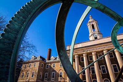 Penn State Sundial Print by Phillip Schafer