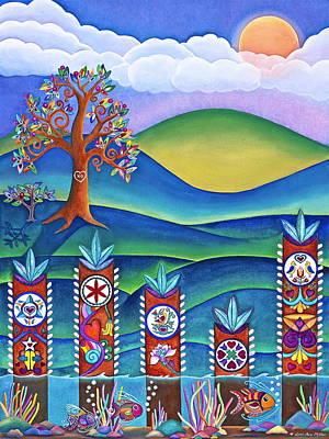 Religious Art Mixed Media - Pennsylvania Dutch Hex Signs by Lori Miller