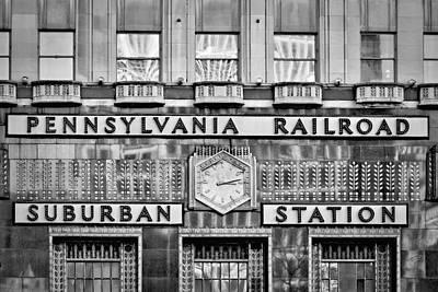 Pennsylvania Suburban Station Bw  Print by Susan Candelario