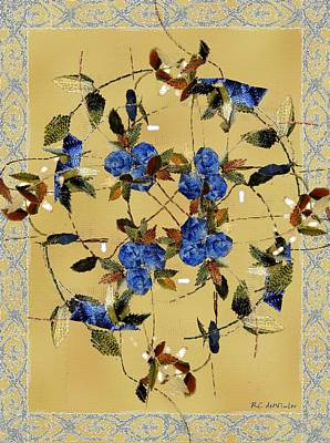 Penny Postcard Silk-stitched Print by RC DeWinter