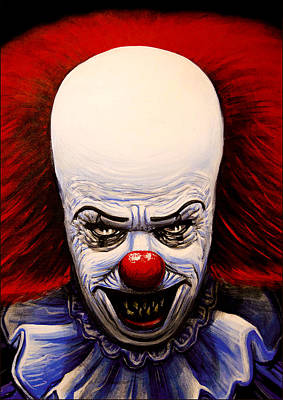 Tim Curry Painting - Pennywise by Matthew Tillett