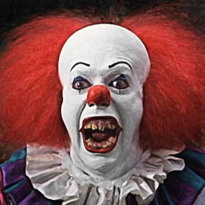 Pennywise The Clown Print by Taylan Soyturk