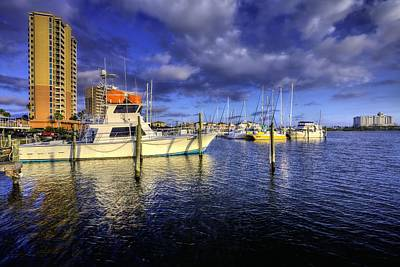 Pensacola Beach Marina Print by JC Findley