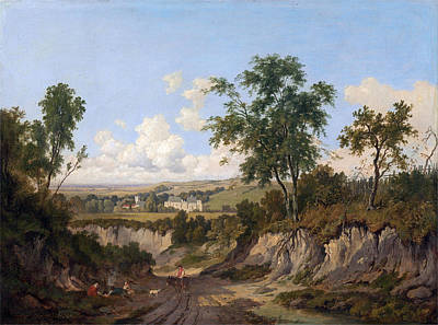 Patrick Nasmyth Painting - Penshurst Place. Kent by Patrick Nasmyth