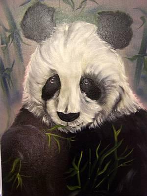 Lisa Rodriguez Painting - Pensive Panda by Lisa Rodriguez