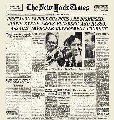 Pentagon Papers, 1973 Print by Granger
