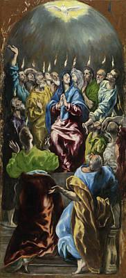 Saint Painting - Pentecost by El Greco