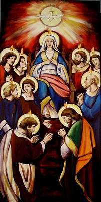Holy Ghost Painting - Pentecost Version I by Sheila Diemert