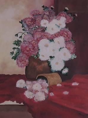 Lassen Painting - Peonies In Darker Light by Traci Hallstrom