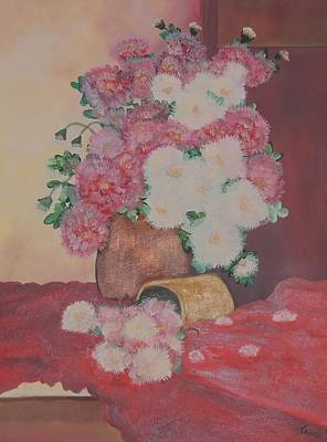 Lassen Painting - Peonies In Different Light by Traci Hallstrom