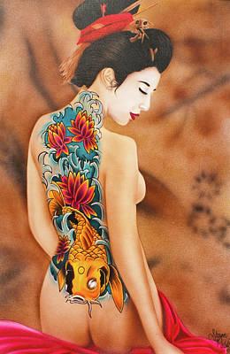 Geisha Digital Painting - People- Geisha by Shawn Palek