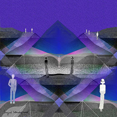 Twilight Zone Digital Art - People In Landscape - 209 by Irmgard Schoendorf Welch