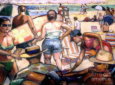 People On The Beach Original by Stan Esson