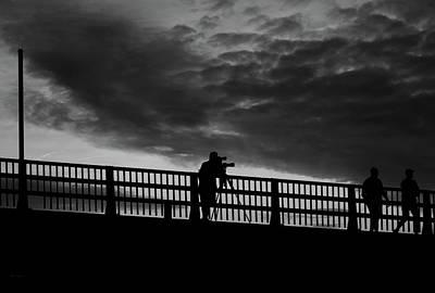 Drama Photograph - People On The Bridge by Bob Orsillo