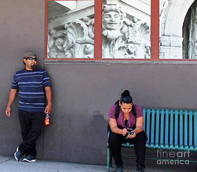People Watching Print by Joe Jake Pratt