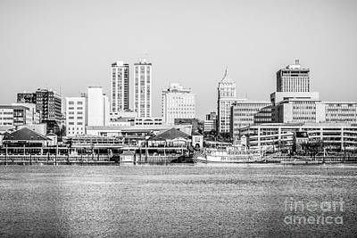Peoria Skyline Black And White Picture Print by Paul Velgos