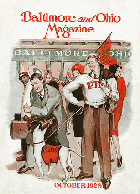 Pep Rally Print by Virginia Louise Moberly