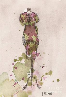 Peplum Dress Print by Lauren Maurer