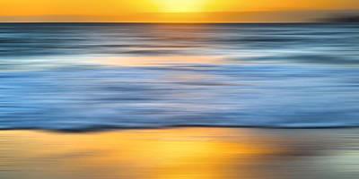 Pepper Beach Gold Print by Sean Davey
